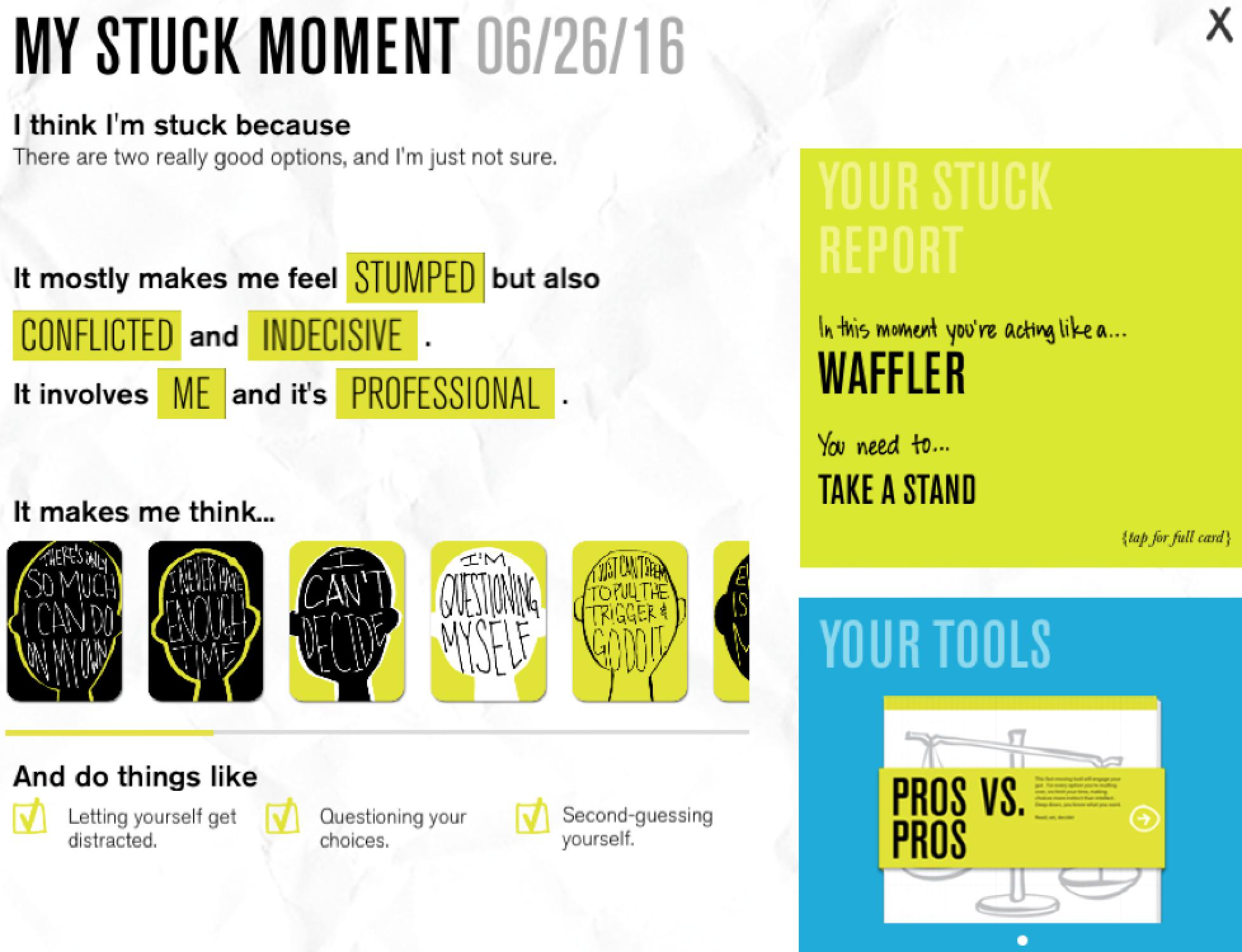 Unstuck app review
